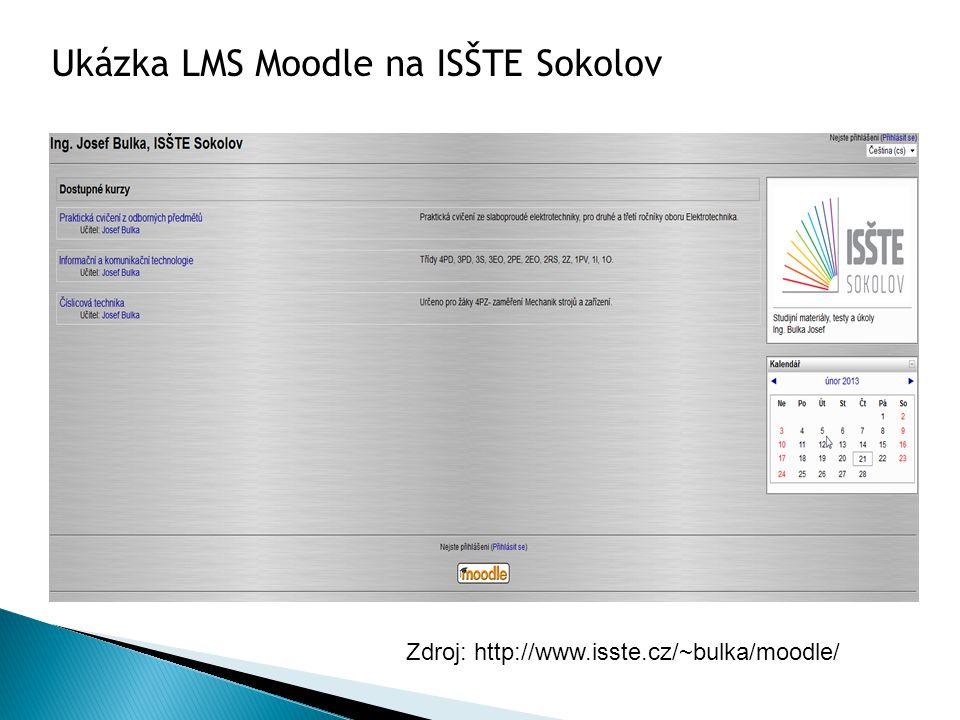 Ukázka LMS Moodle na ISŠTE Sokolov