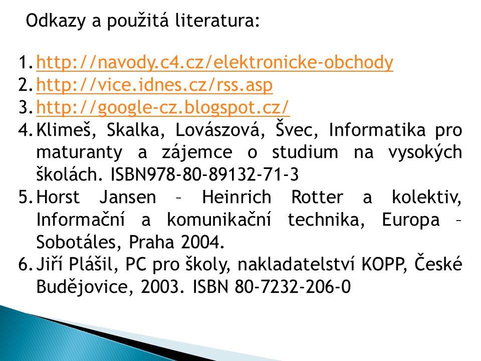 Odkazy a použitá literatura: