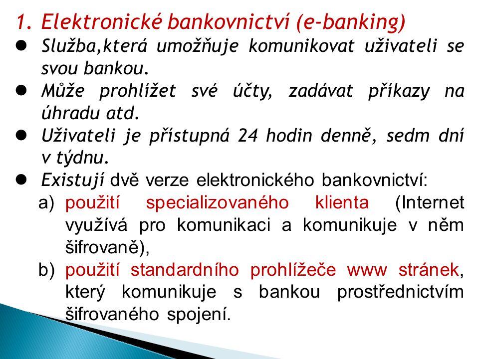 Elektronické bankovnictví (e-banking)