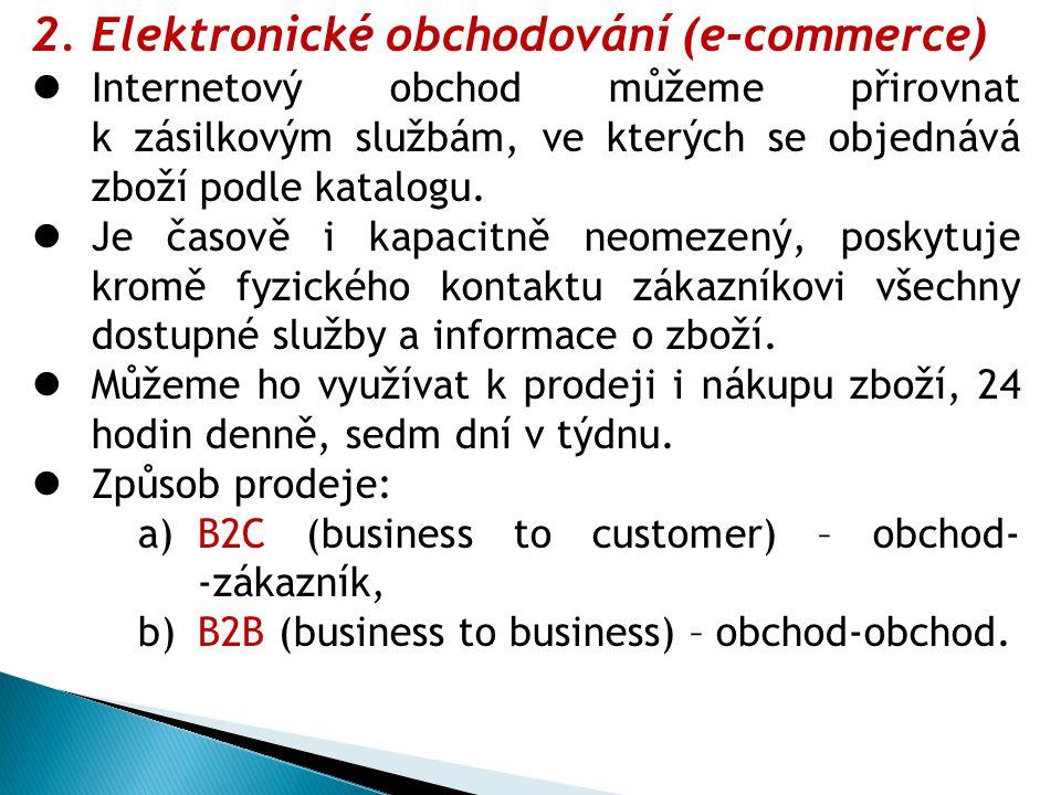 Elektronické obchodování (e-commerce)