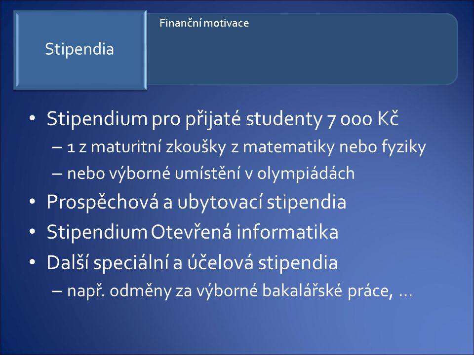 Stipendium pro přijaté studenty 7 000 Kč