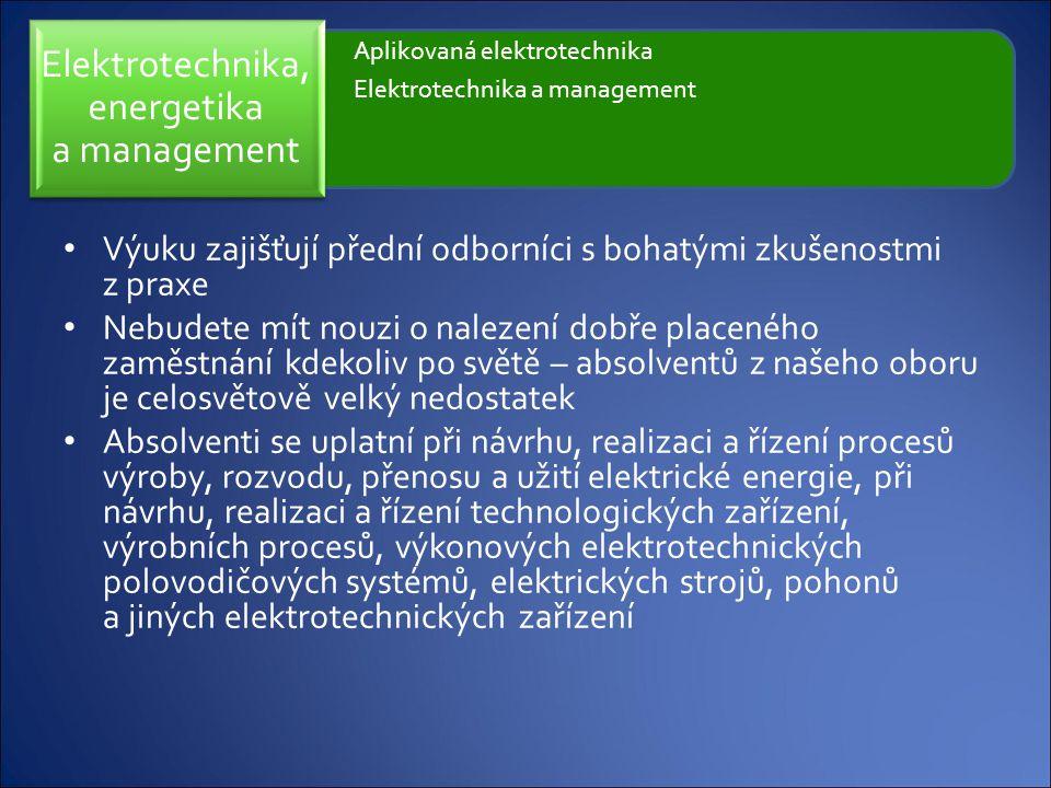 Elektrotechnika, energetika a management