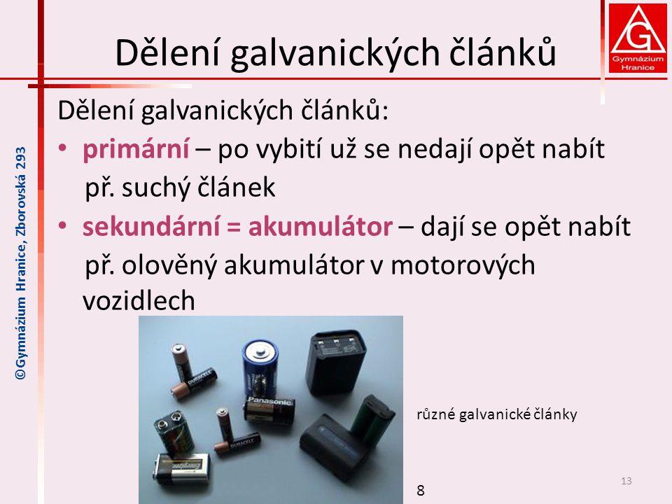 Dělení galvanických článků