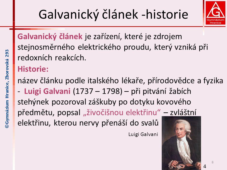 Galvanický článek -historie
