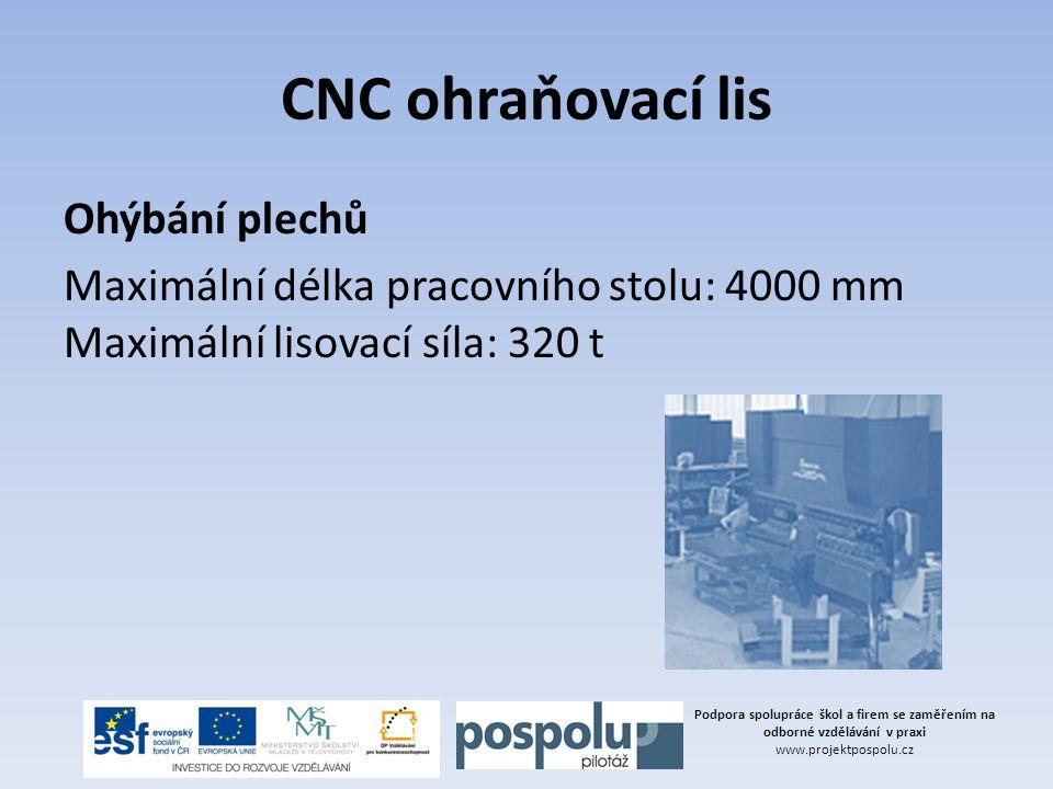 CNC ohraňovací lis Ohýbání plechů
