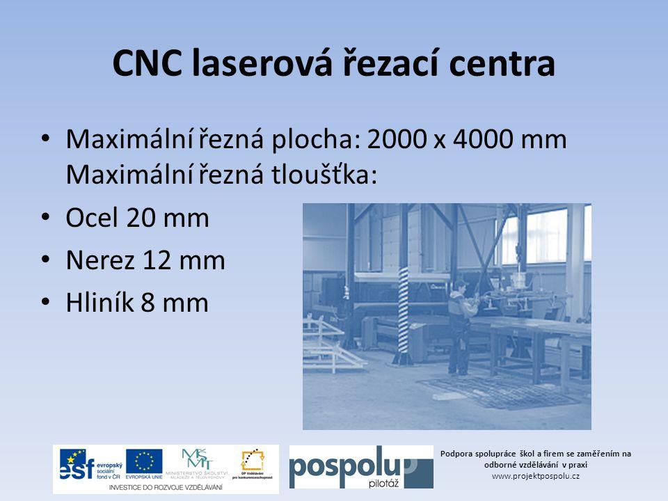 CNC laserová řezací centra