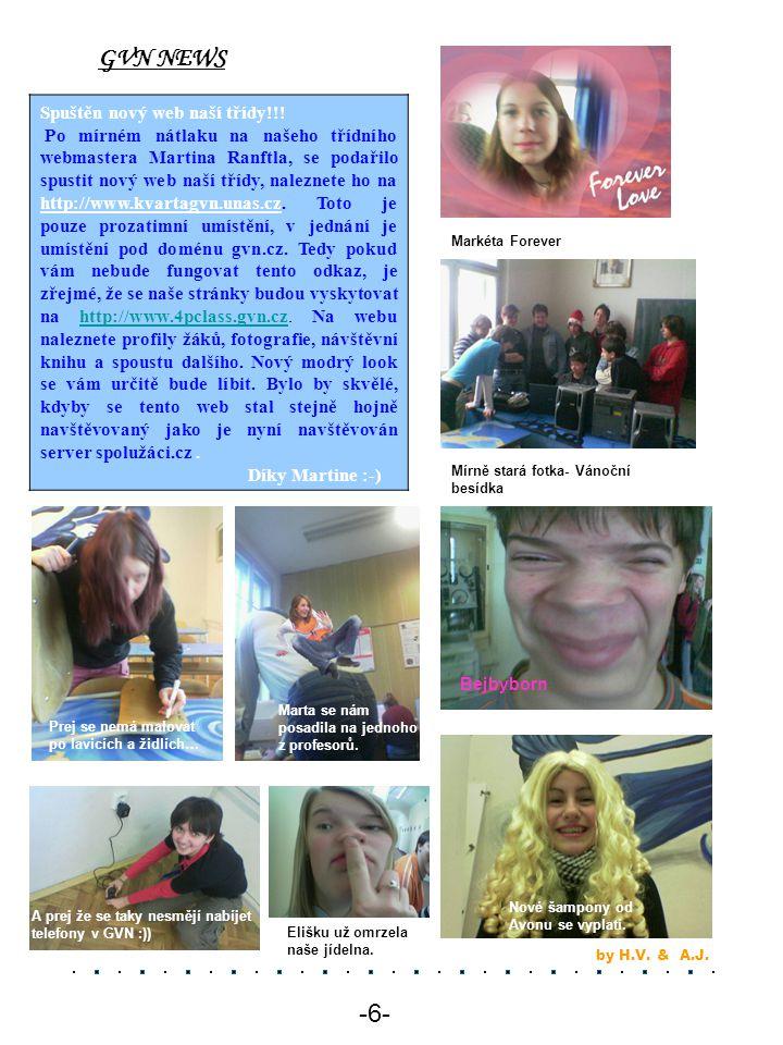GVN NEWS -6- Spuštěn nový web naší třídy!!!