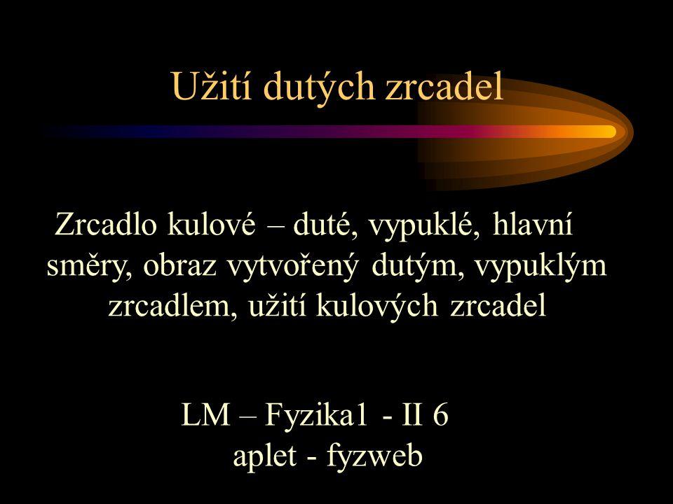 LM – Fyzika1 - II 6 aplet - fyzweb