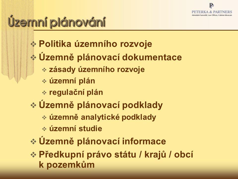 Územní plánování Politika územního rozvoje