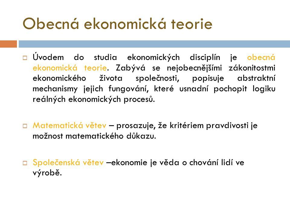 Obecná ekonomická teorie