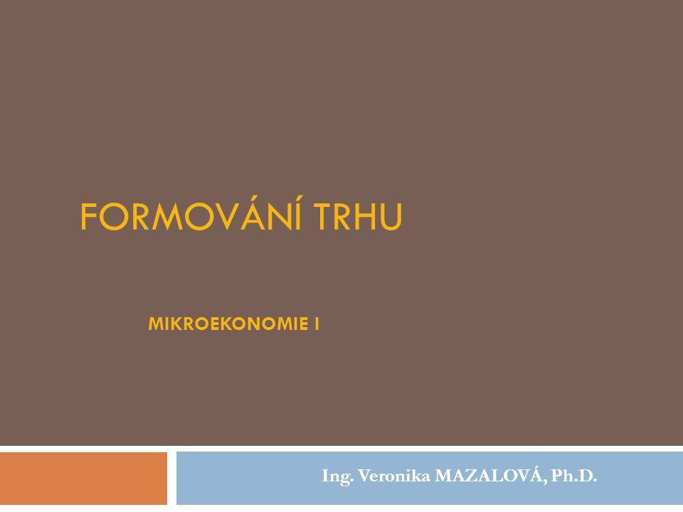 Formování trhu Mikroekonomie I