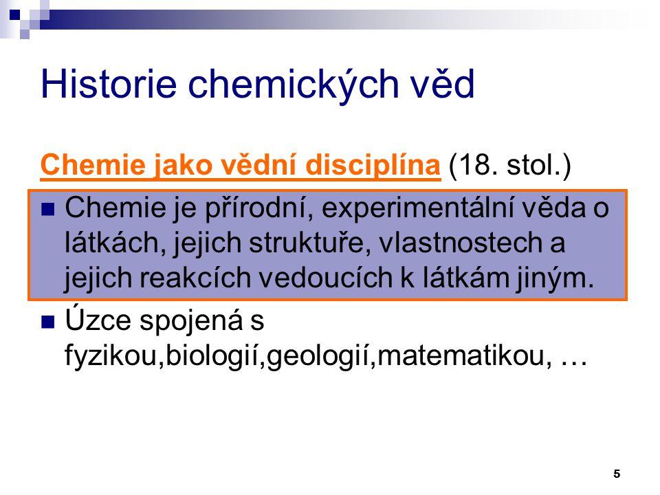 Historie chemických věd