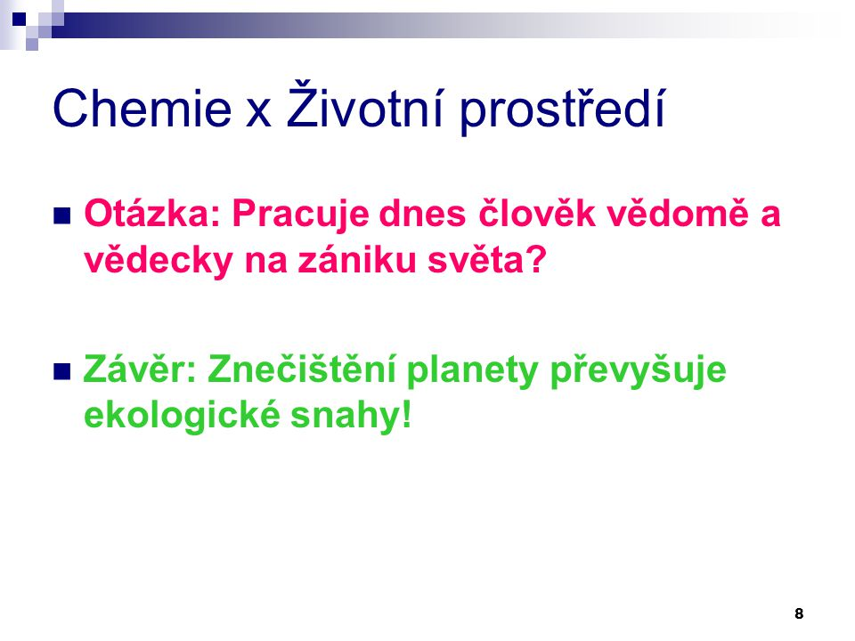 Chemie x Životní prostředí