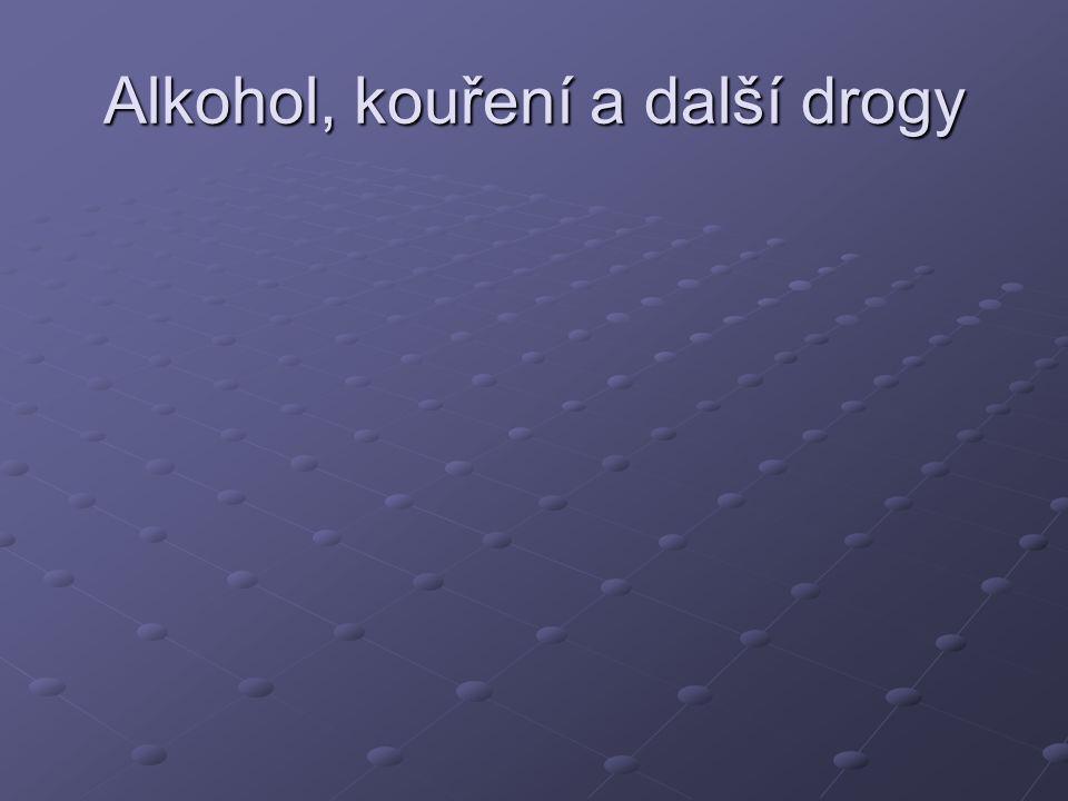 Alkohol, kouření a další drogy