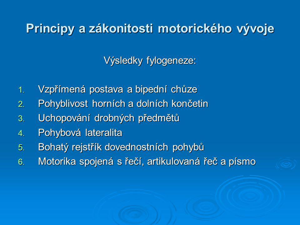 Principy a zákonitosti motorického vývoje