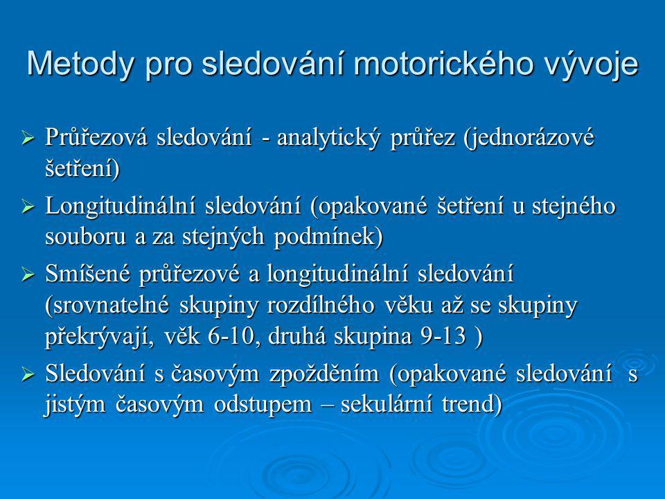 Metody pro sledování motorického vývoje