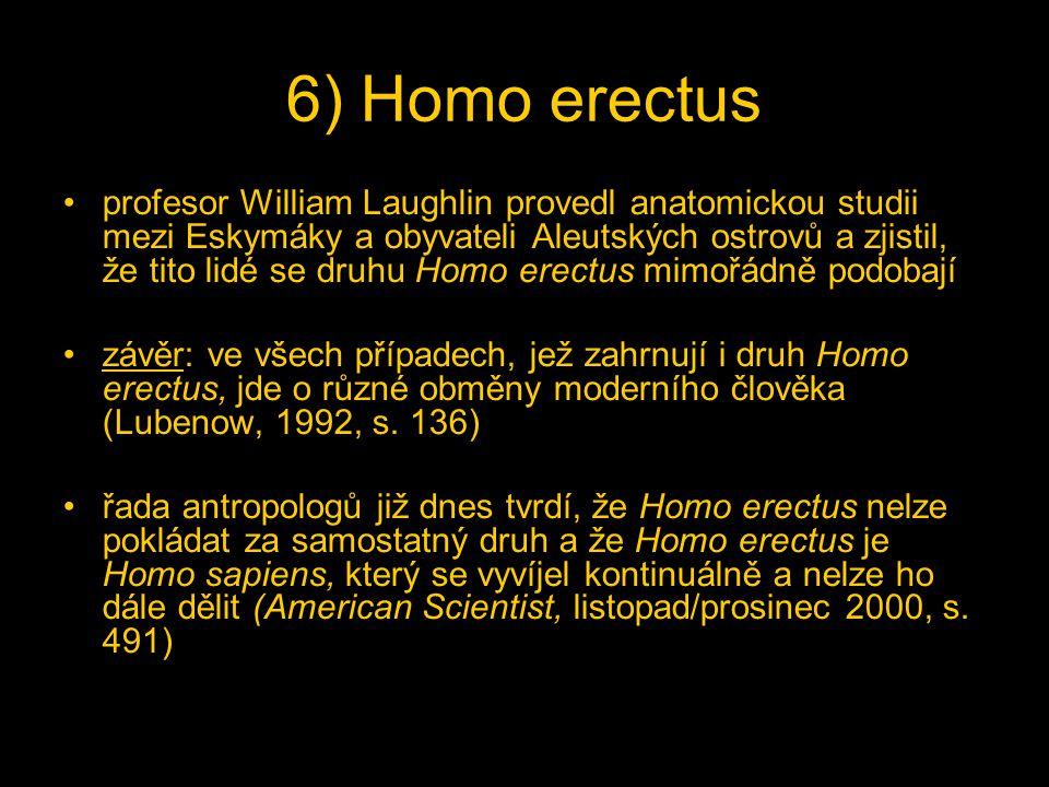 6) Homo erectus