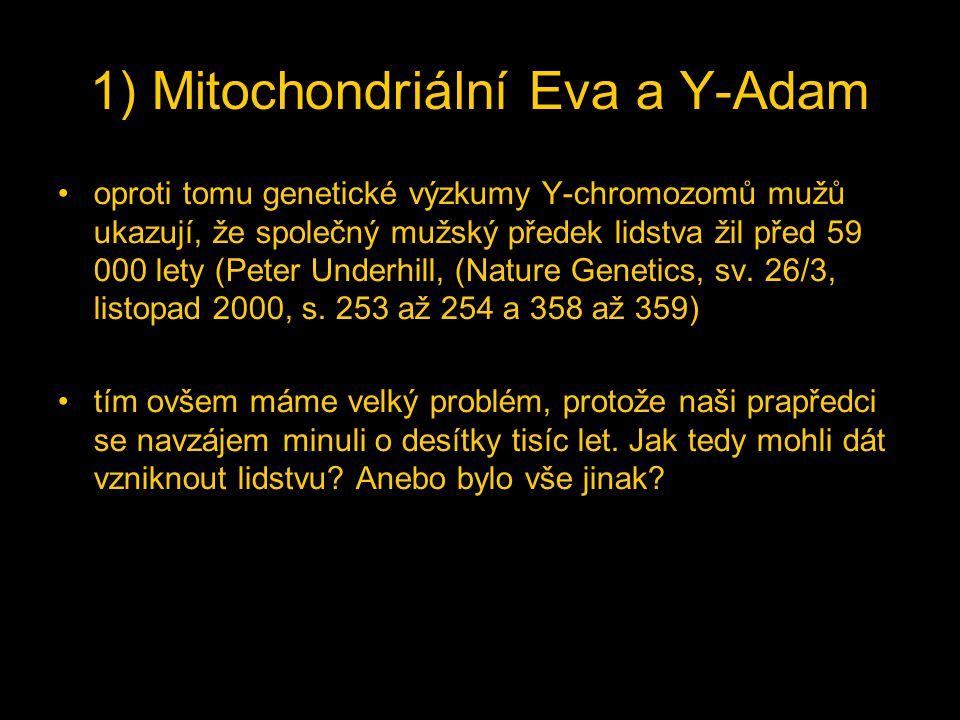 1) Mitochondriální Eva a Y-Adam