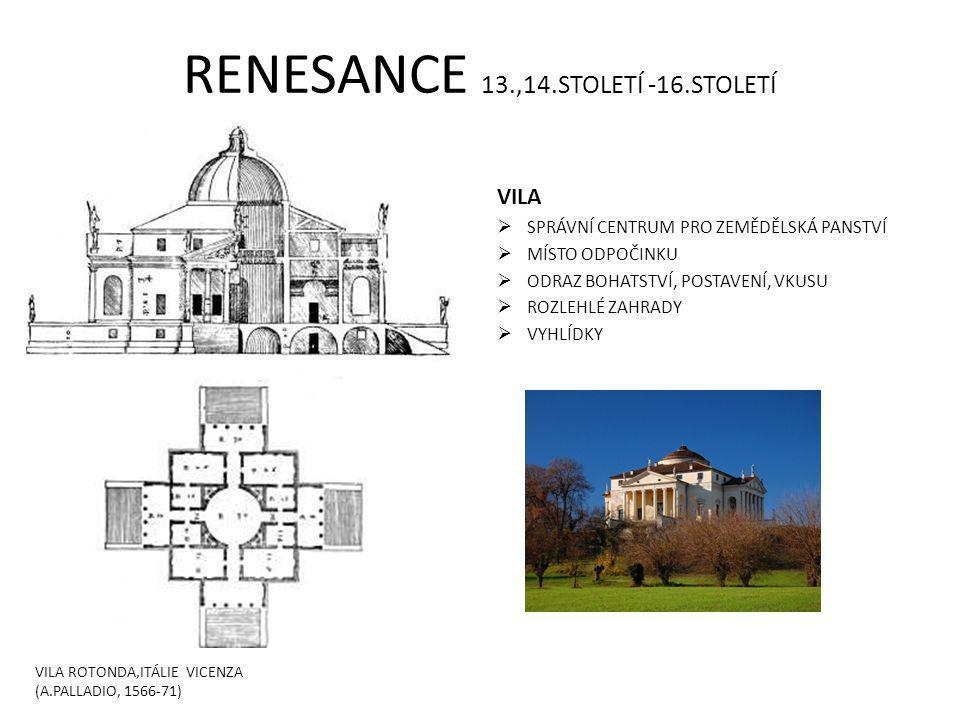 RENESANCE 13.,14.STOLETÍ -16.STOLETÍ