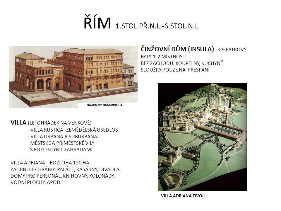 ŘÍM 1.STOL.PŘ.N.L.-6.STOL.N.L ČINŽOVNÍ DŮM (INSULA) -3-9 PATROVÝ