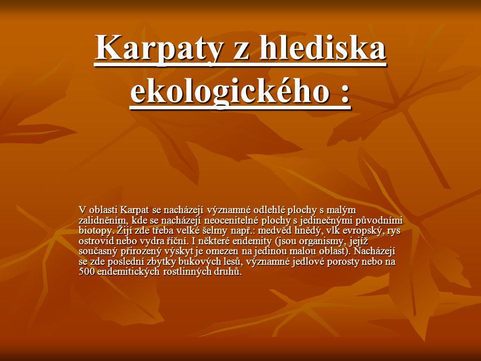 Karpaty z hlediska ekologického :