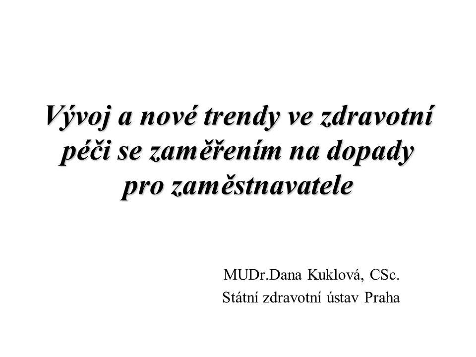 MUDr.Dana Kuklová, CSc. Státní zdravotní ústav Praha