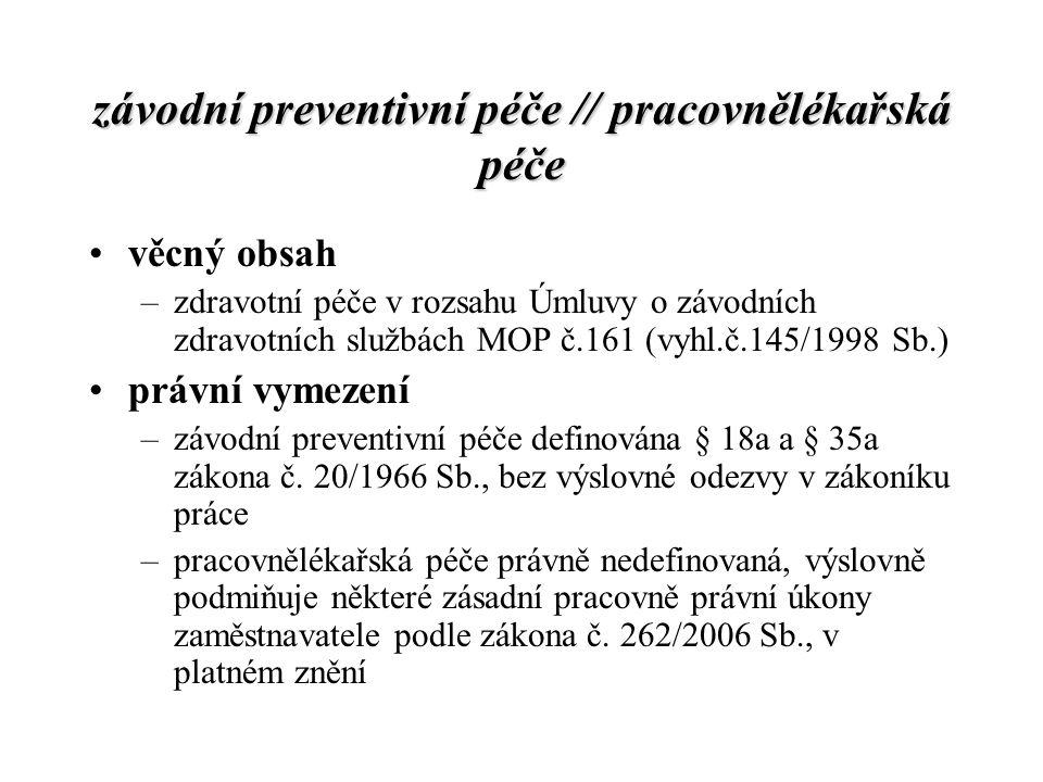 závodní preventivní péče // pracovnělékařská péče
