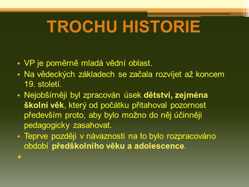 TROCHU HISTORIE VP je poměrně mladá vědní oblast.
