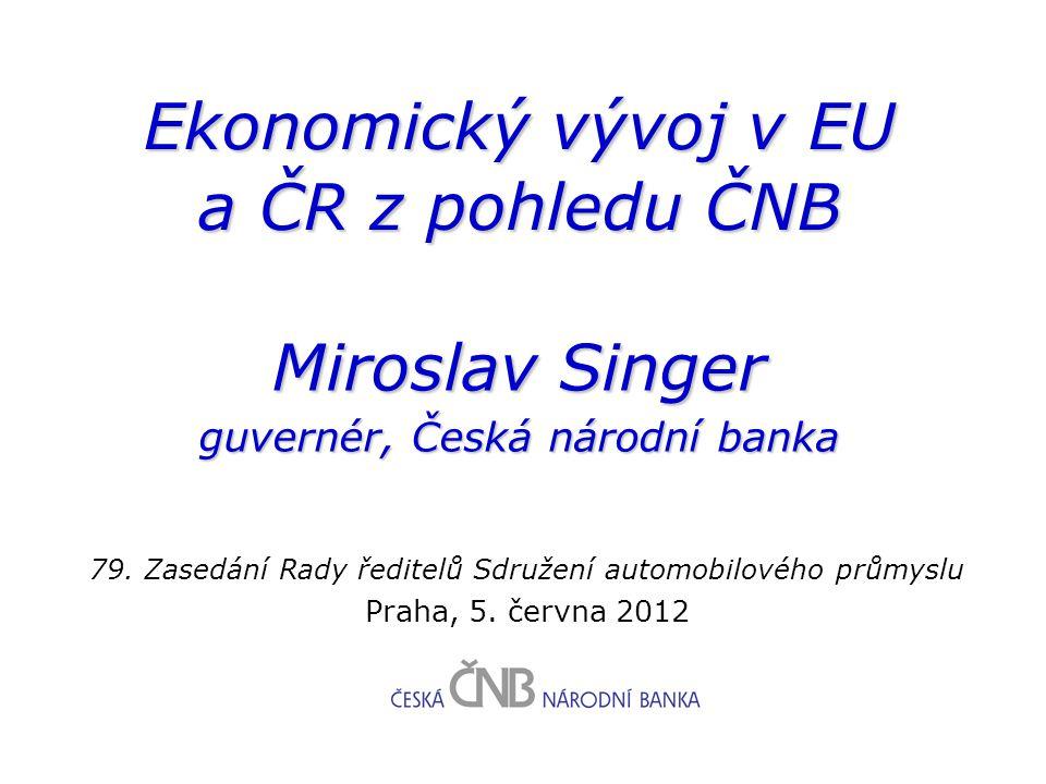 Ekonomický vývoj v EU a ČR z pohledu ČNB