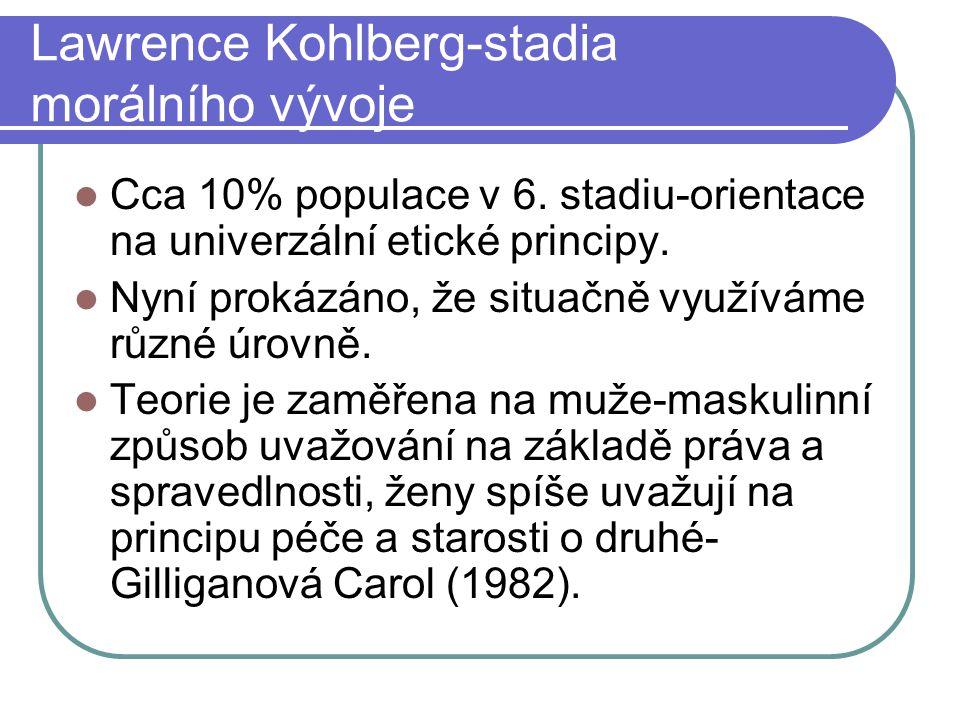 Lawrence Kohlberg-stadia morálního vývoje