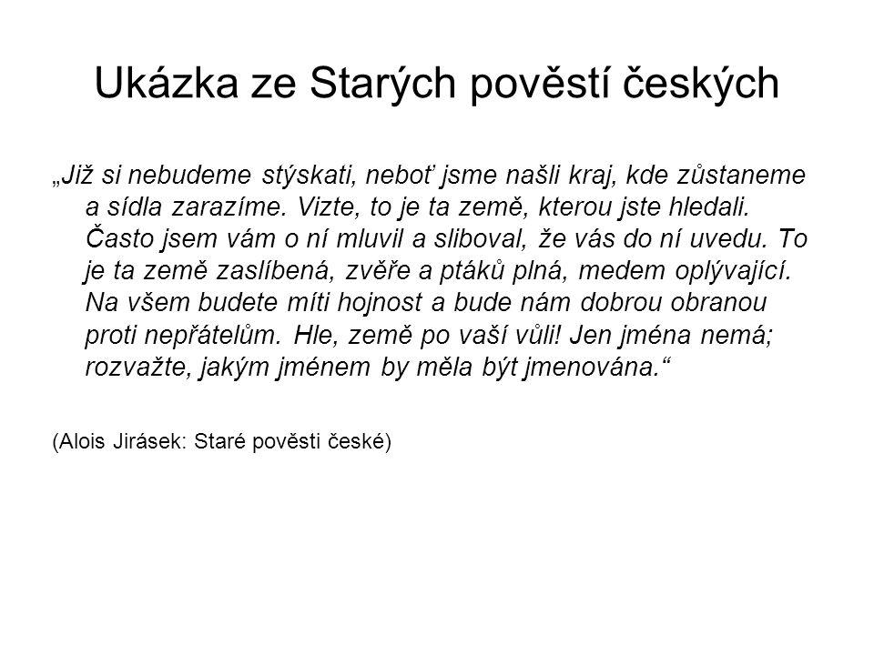 Ukázka ze Starých pověstí českých