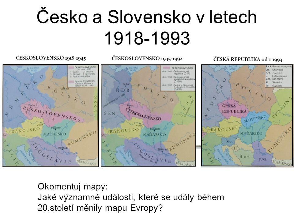 Česko a Slovensko v letech 1918-1993