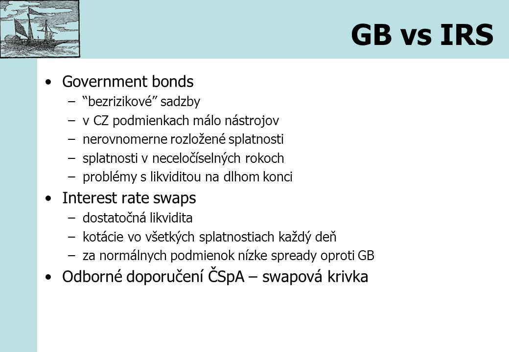 GB vs IRS Government bonds Interest rate swaps