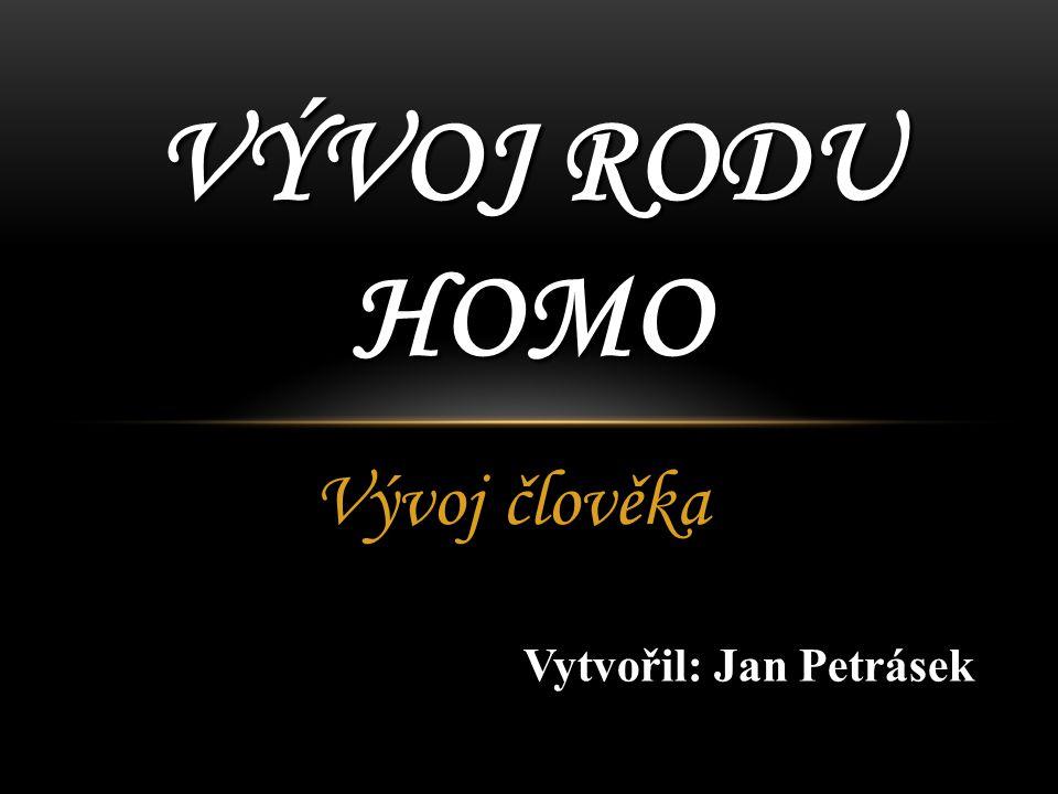 VÝVOJ RODU HOMO Vývoj člověka Vytvořil: Jan Petrásek