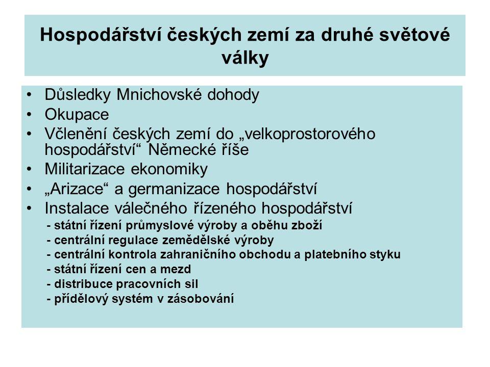 Hospodářství českých zemí za druhé světové války