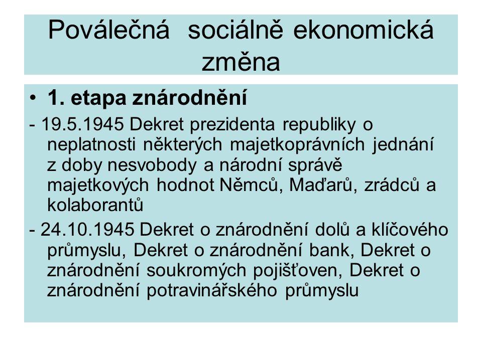 Poválečná sociálně ekonomická změna