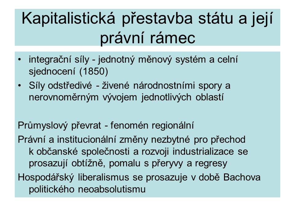 Kapitalistická přestavba státu a její právní rámec
