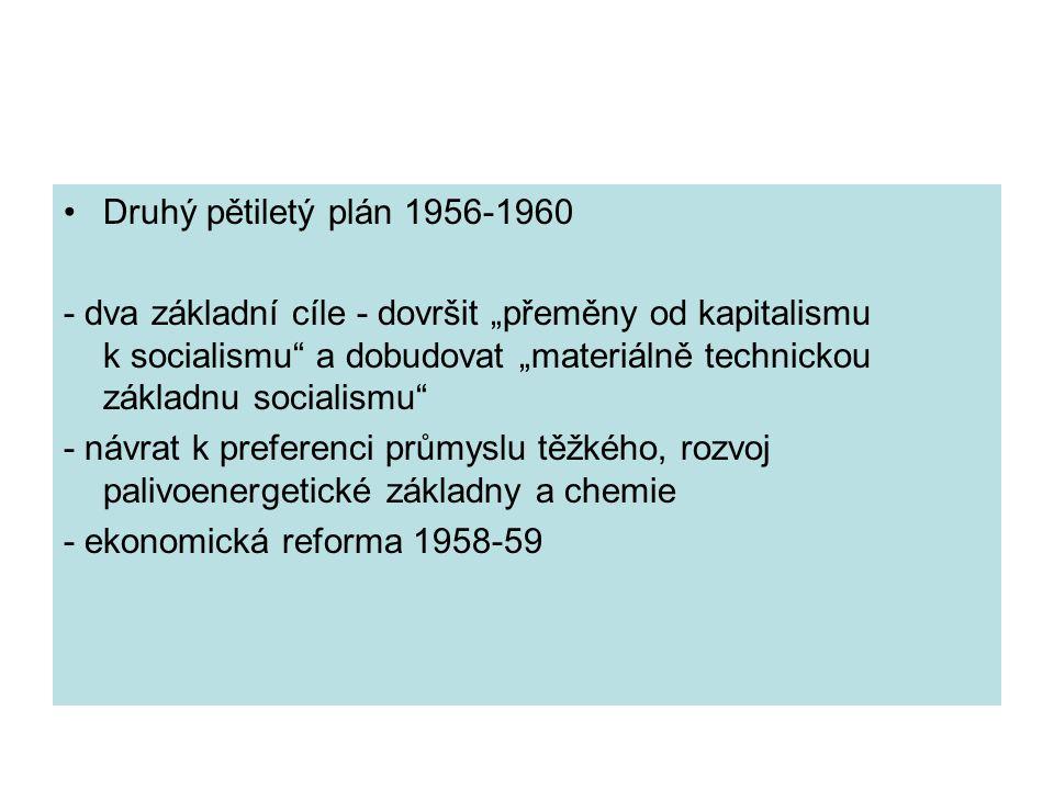 Druhý pětiletý plán 1956-1960