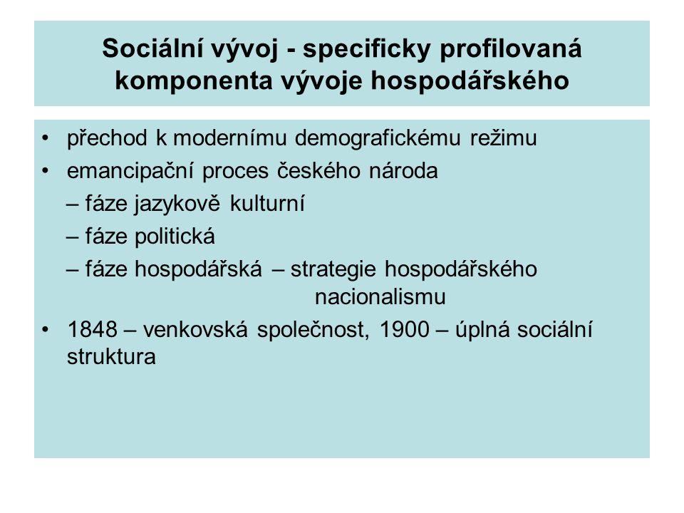 Sociální vývoj - specificky profilovaná komponenta vývoje hospodářského