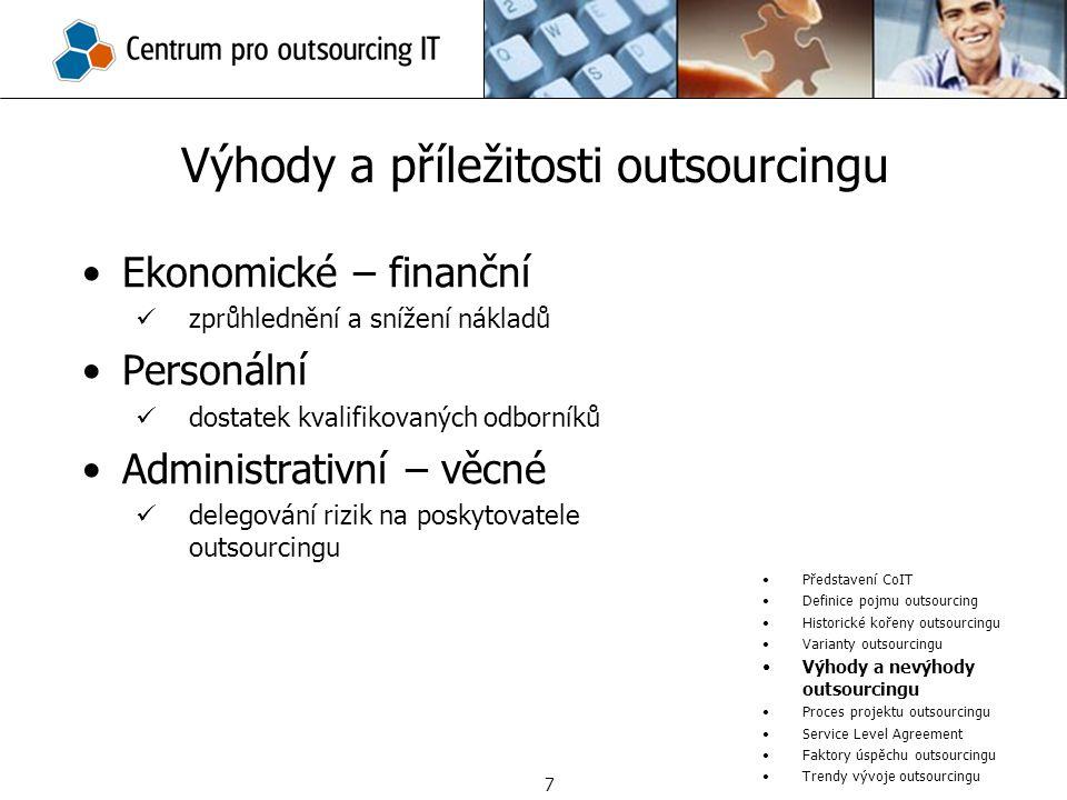 Výhody a příležitosti outsourcingu