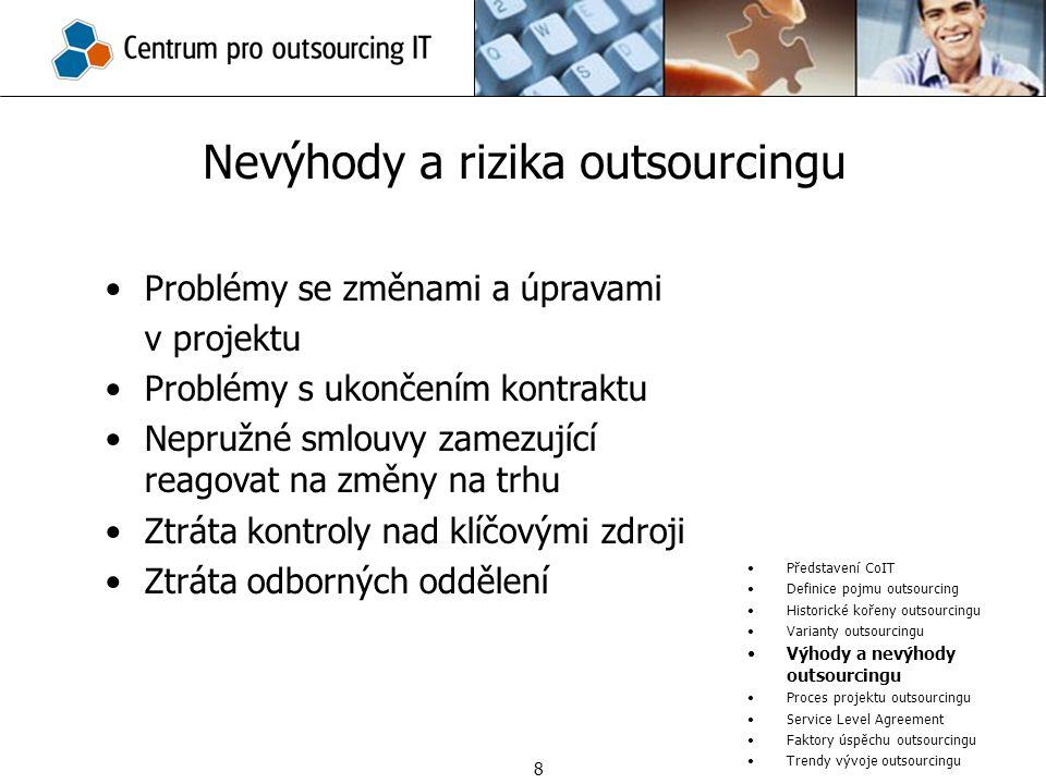 Nevýhody a rizika outsourcingu