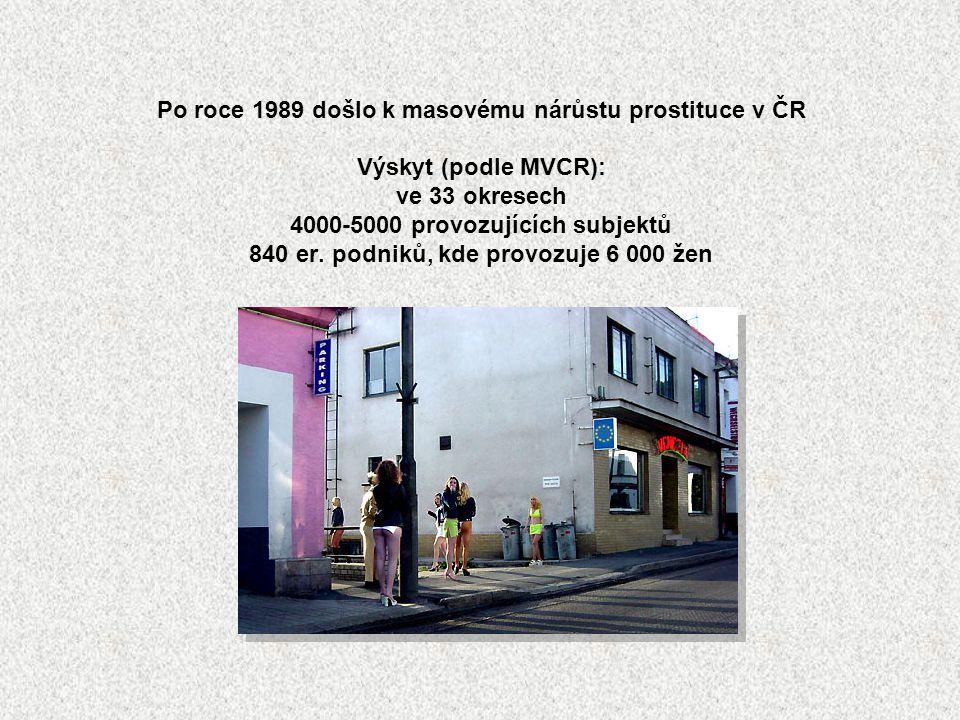 Po roce 1989 došlo k masovému nárůstu prostituce v ČR