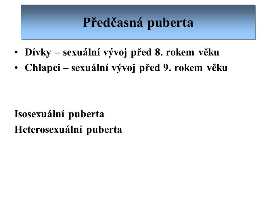 Předčasná puberta Dívky – sexuální vývoj před 8. rokem věku