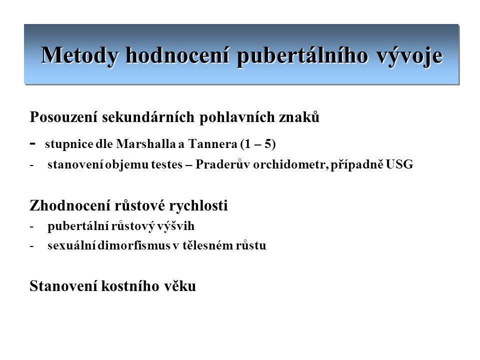 Metody hodnocení pubertálního vývoje