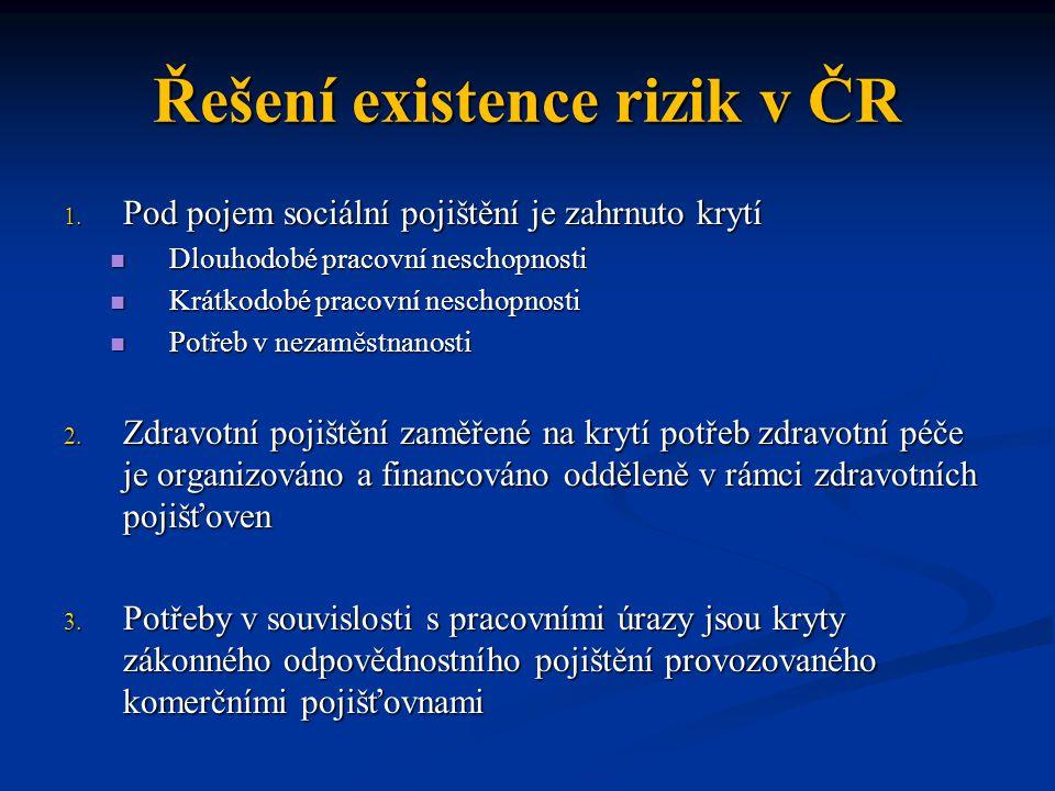 Řešení existence rizik v ČR