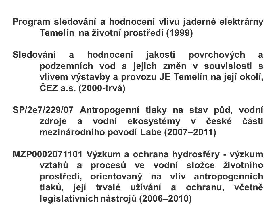 Program sledování a hodnocení vlivu jaderné elektrárny Temelín na životní prostředí (1999)