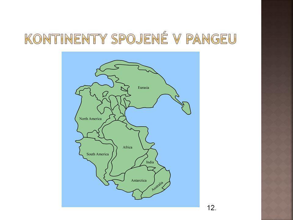 Kontinenty spojené v pangeu