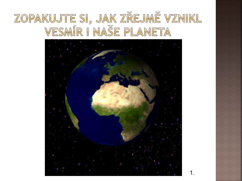 Zopakujte si, jak ZŘEJMĚ vznikl vesmír i naše planeta