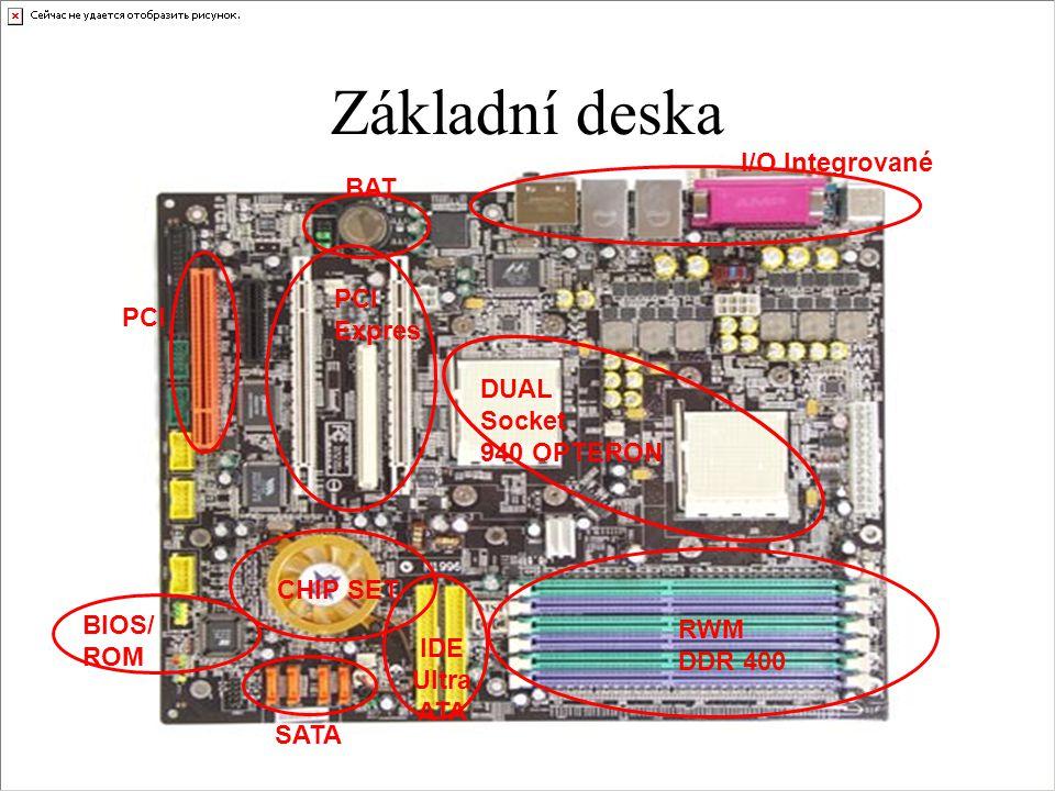 Základní deska I/O Integrované BAT PCI Expres DUAL Socket 940 OPTERON