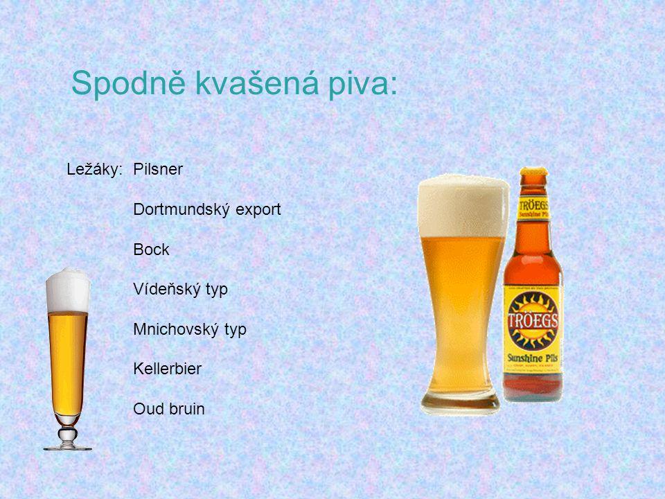 Spodně kvašená piva: Ležáky: Pilsner Dortmundský export Bock